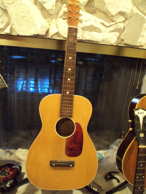 Vintage Airline Flat Top Acoustic Guitar 1950s Or 60s