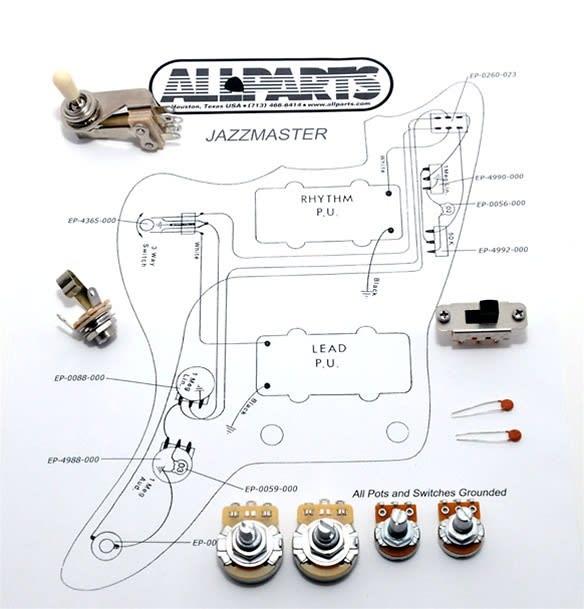 New Wirning Kit Jazzmaster Pots Toggle Switch Jack Diagram
