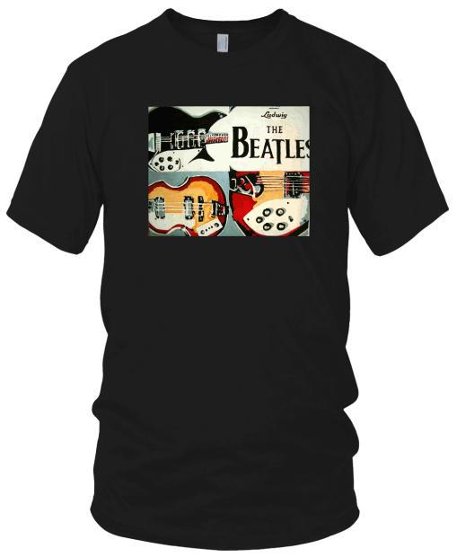 Beatles Instruments T Shirt Black Reverb
