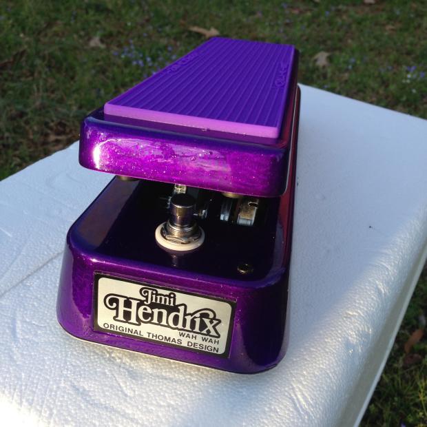 Dunlop Jimi Hendrix Wah Wah Custom Shimmer Candy Purple