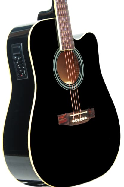 acoustic electric guitar for beginners imusic219 installed eq reverb