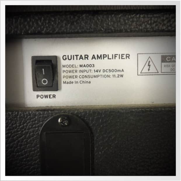 first act ma003 guitar amplifier black silver portable reverb. Black Bedroom Furniture Sets. Home Design Ideas