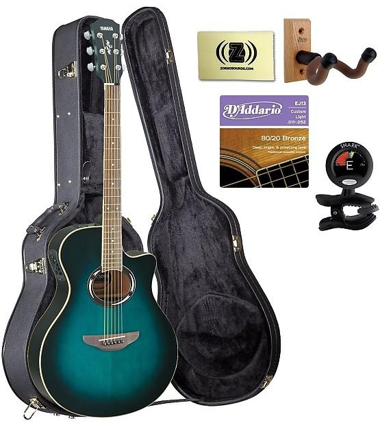 Yamaha Apx500ii Blue Burst Guitar Bundle With Case Tuner
