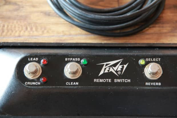 Peavey 4 Button Stereo Chorus 212 Guitar Amp Footswitch