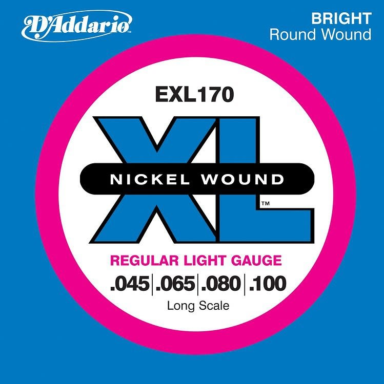 D Addario Exl170 Nickel Wound Bass Guitar Strings Light
