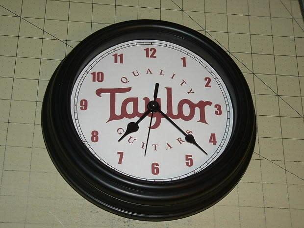 Taylor studio wall clock blackglass lens85quot diameter for Black glass wall clock