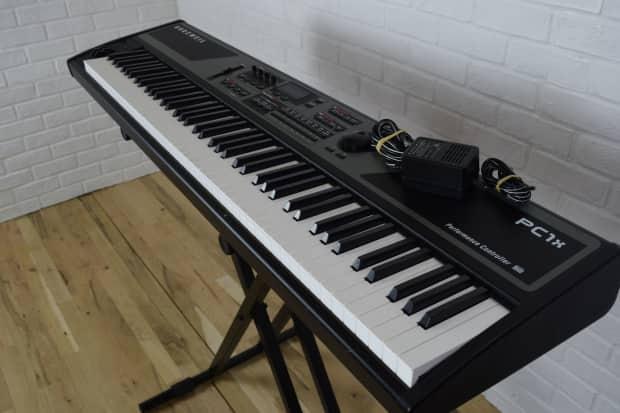 kurzweil pc1x 88 key keyboard synth weighted keys near reverb. Black Bedroom Furniture Sets. Home Design Ideas