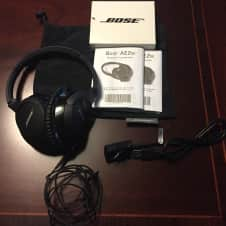 Bose AE2W Noise Canceling Bluetooth Wireless Closed Back Headphones image