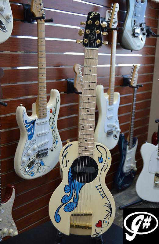 G-Sharp OF-1 Monterey Tribute Guitar, Custom Hendrix-style Pinstripe