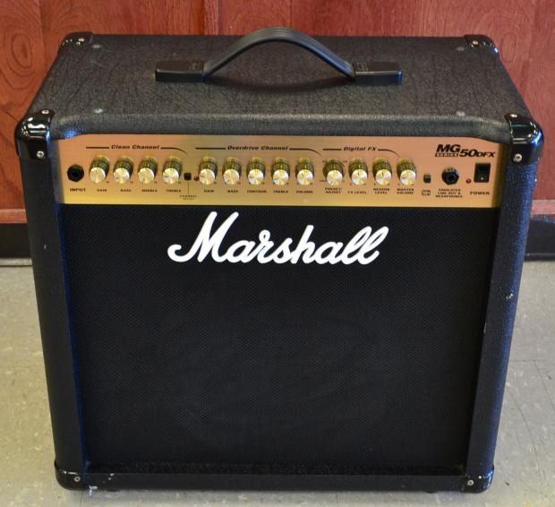 marshall mg50dfx guitar amplifier amp 1x12 50w reverb. Black Bedroom Furniture Sets. Home Design Ideas