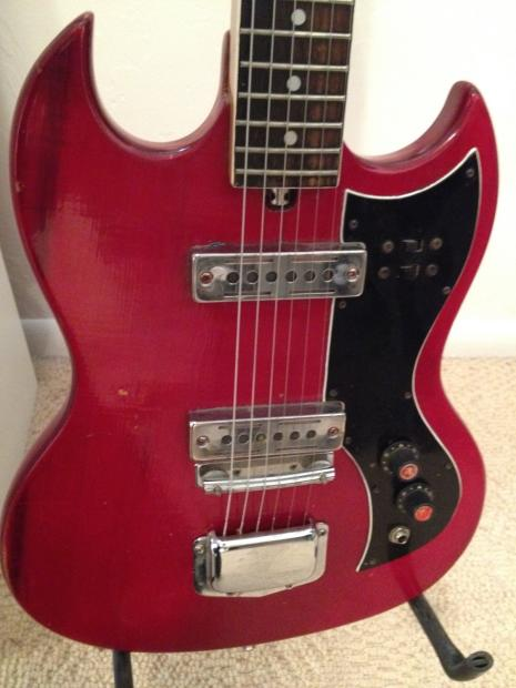 kay k 2 electric guitar 70s red cute little import and cheap reverb. Black Bedroom Furniture Sets. Home Design Ideas