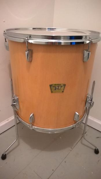 Yamaha stage custom natural birch with added 16 floor tom for 16 floor tom