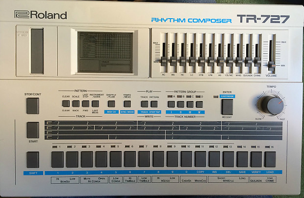 roland tr 727 vintage drum machine rhythm composer brand new reverb. Black Bedroom Furniture Sets. Home Design Ideas