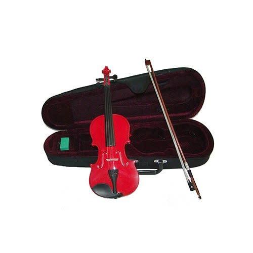 RockStar Violin Pack Red- Acoustic Violin w/Pickup, Mini ...