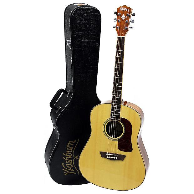 b stock washburn wsj50sk elite acoustic guitar with case reverb. Black Bedroom Furniture Sets. Home Design Ideas