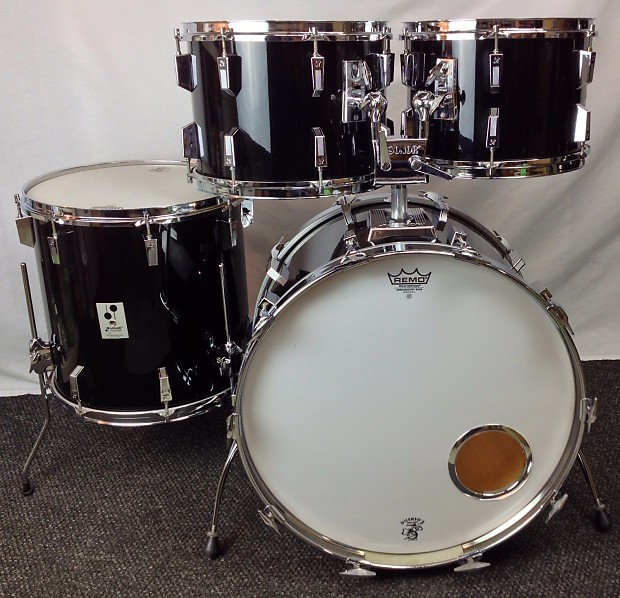 Sonor Phonic 4pc Drum Set 1980 Black Nitron Reverb