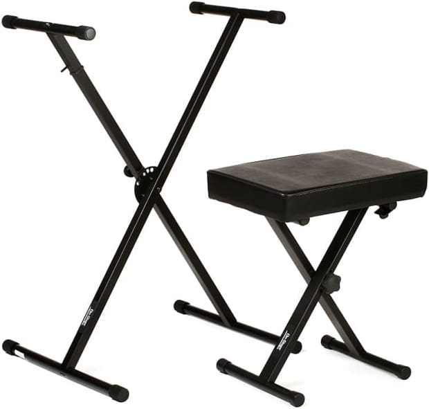 On stage stands kpk6500 keyboard stand and bench pack reverb Keyboard stand and bench