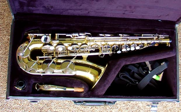 Yamaha yas 23 alto saxophone excellent cond w case reverb for Yamaha saxophone mouthpiece chart
