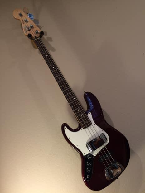 fender left handed jazz bass standard mim 1999 midnight wine reverb. Black Bedroom Furniture Sets. Home Design Ideas