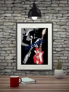 Jack White with Airline '59 poster. 18x24. Print from sketch. image