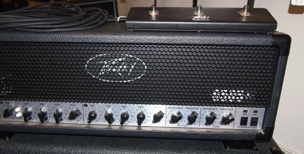 peavey 6505 plus all tube guitar amp head with footswitch and cable reverb. Black Bedroom Furniture Sets. Home Design Ideas