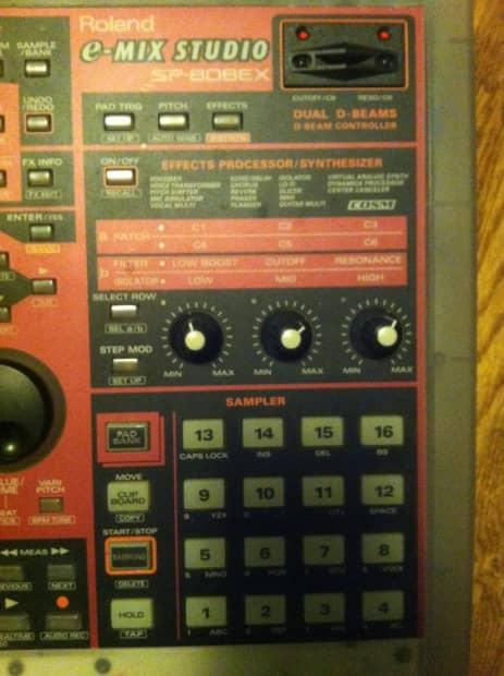 roland sp 808ex sampler multitrack recorder onboard reverb. Black Bedroom Furniture Sets. Home Design Ideas