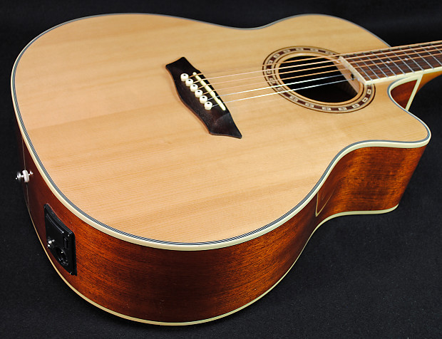 washburn wg7sce acoustic electric guitar natural finish reverb. Black Bedroom Furniture Sets. Home Design Ideas