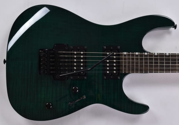 esp ltd mg 750 electric guitar in see thru green brand new reverb. Black Bedroom Furniture Sets. Home Design Ideas
