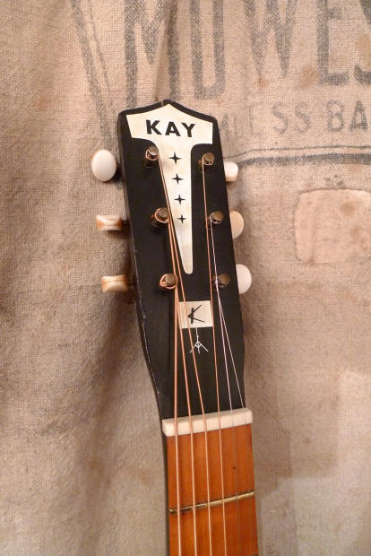 Southside Auto Sales >> Kay 1160 Music Note Parlor Guitar w/ Pickup 1960's Black ...