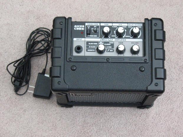 roland micro cube amplifier portable mini guitar modeling combo amp reverb. Black Bedroom Furniture Sets. Home Design Ideas