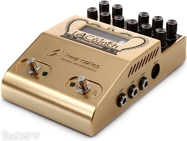 two notes le crunch 2 channel british tones tube preamp pedal reverb. Black Bedroom Furniture Sets. Home Design Ideas