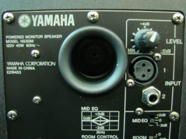 Yamaha hs 50m powered studio monitors w original boxes for Yamaha hs80m specs
