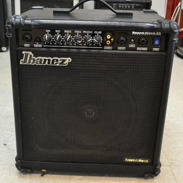 ibanez sound wave sw35 bass guitar amplifier amp 35w 1x10 reverb. Black Bedroom Furniture Sets. Home Design Ideas