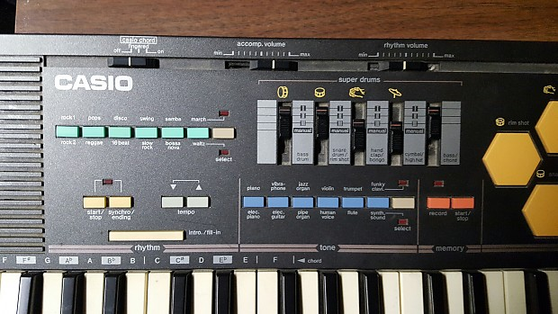 vintage casio mt 520 keyboard w super drums 4 drum pad reverb. Black Bedroom Furniture Sets. Home Design Ideas