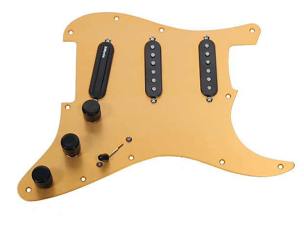 Gold Anod Loaded Pickguard For Strat Fender Dimarzio Reverb
