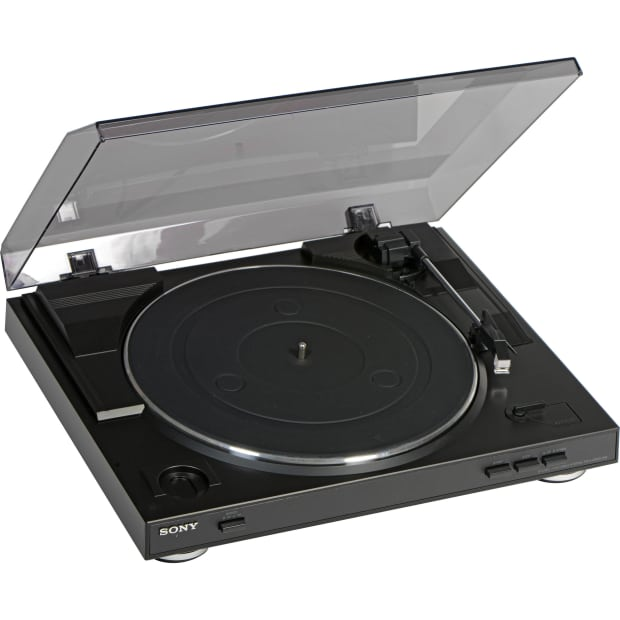 sony ps lx300usb black usb stereo turntable reverb. Black Bedroom Furniture Sets. Home Design Ideas