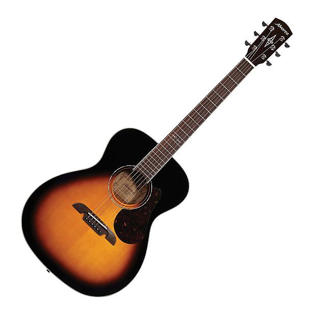Alvarez Af60sb Folk Acoustic Guitar Sunburst New Arrival