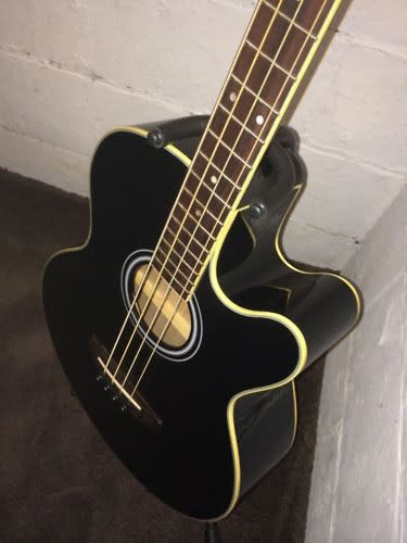 ibanez aeb5e acoustic electric bass guitar black pre amp tuner eq reverb. Black Bedroom Furniture Sets. Home Design Ideas