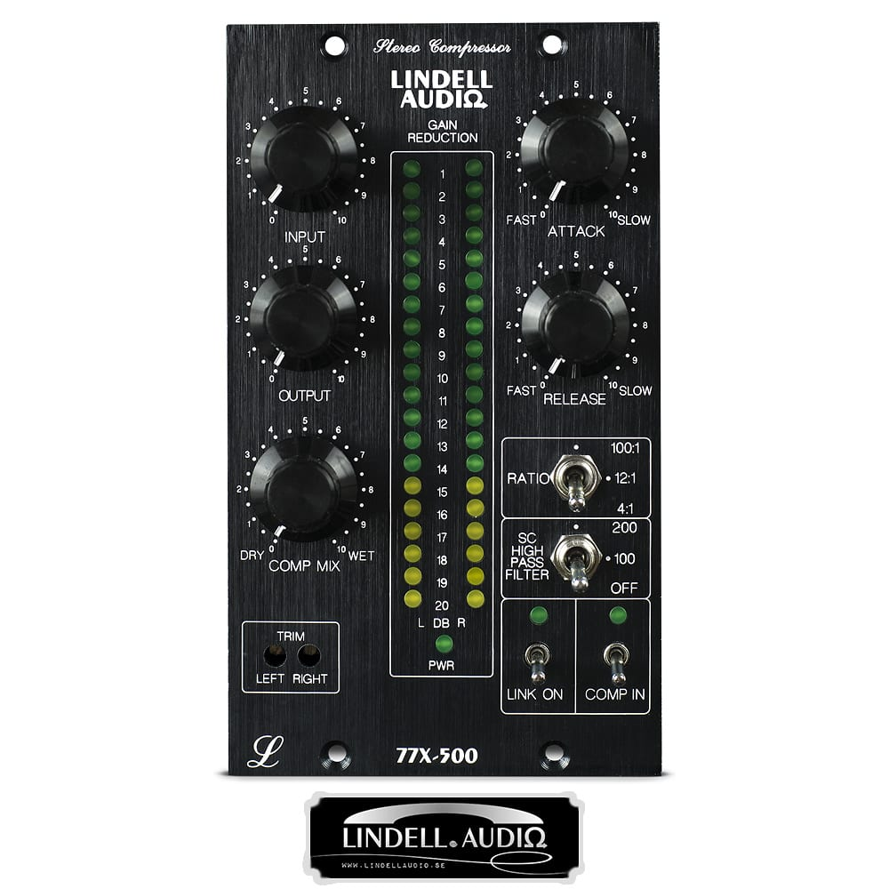 lindell audio 77x 500 series stereo compressor reverb. Black Bedroom Furniture Sets. Home Design Ideas