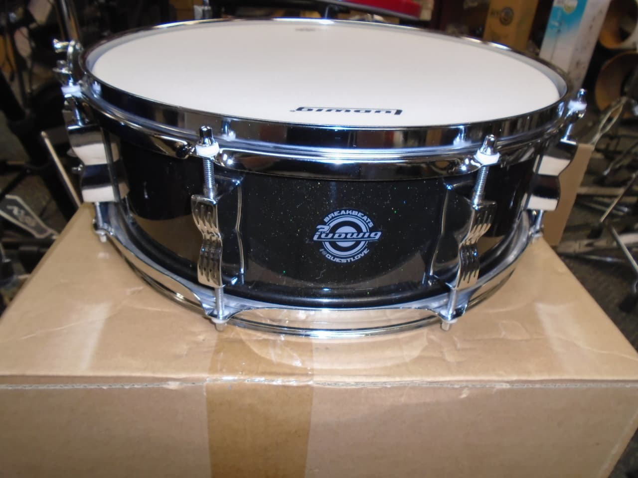 new ludwig questlove breakbeats 14 x5 snare drum black reverb. Black Bedroom Furniture Sets. Home Design Ideas