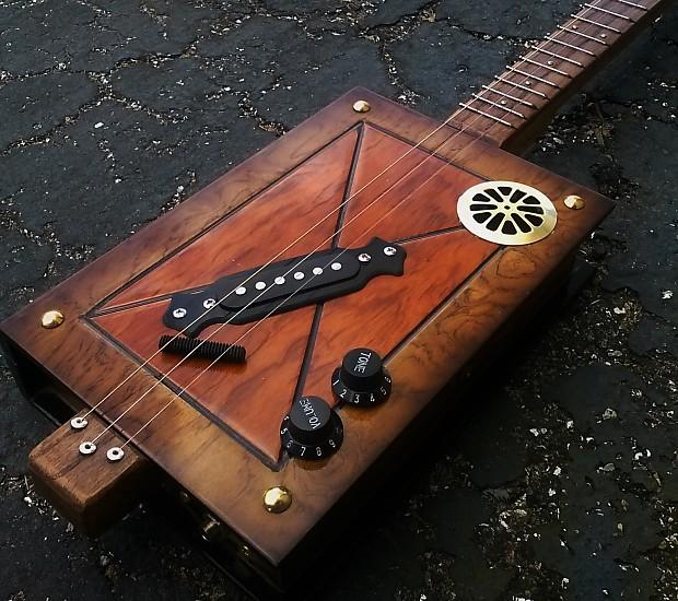 cottin pickin blues cigar box guitars video reverb. Black Bedroom Furniture Sets. Home Design Ideas