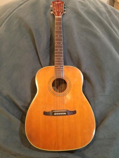 Fender F1060 Vintage Rare Acoustic Guitar Dreadnought
