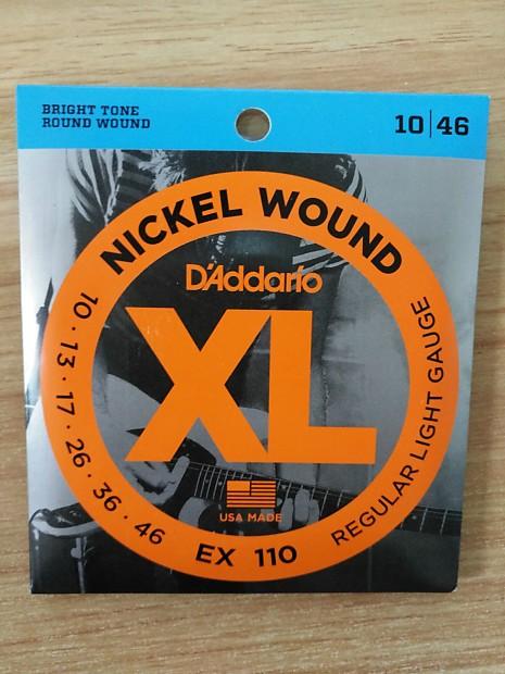Addario EXL110 Nickel Wound Light Electric Guitar Strings Single ...