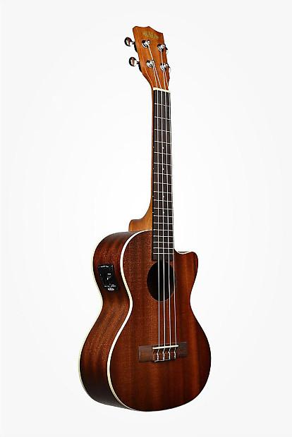kala satin mahogany acoustic electric tenor uke w cutaway reverb. Black Bedroom Furniture Sets. Home Design Ideas