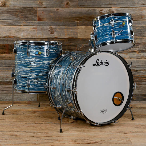 Ludwig super classic 13 16 22 3pc drum kit blue oyster 70s for Classic house drums