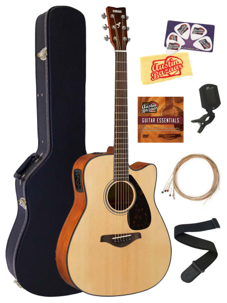yamaha fgx800c acoustic electric guitar w hard case tuner reverb. Black Bedroom Furniture Sets. Home Design Ideas