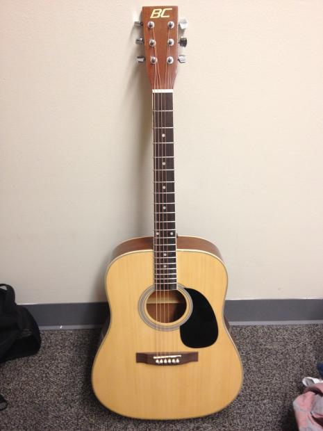 brand new acoustic guitar full size 41 6 strings with extras 50 reverb. Black Bedroom Furniture Sets. Home Design Ideas