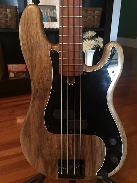 custom fender style precision p bass guitar with bartolini reverb. Black Bedroom Furniture Sets. Home Design Ideas