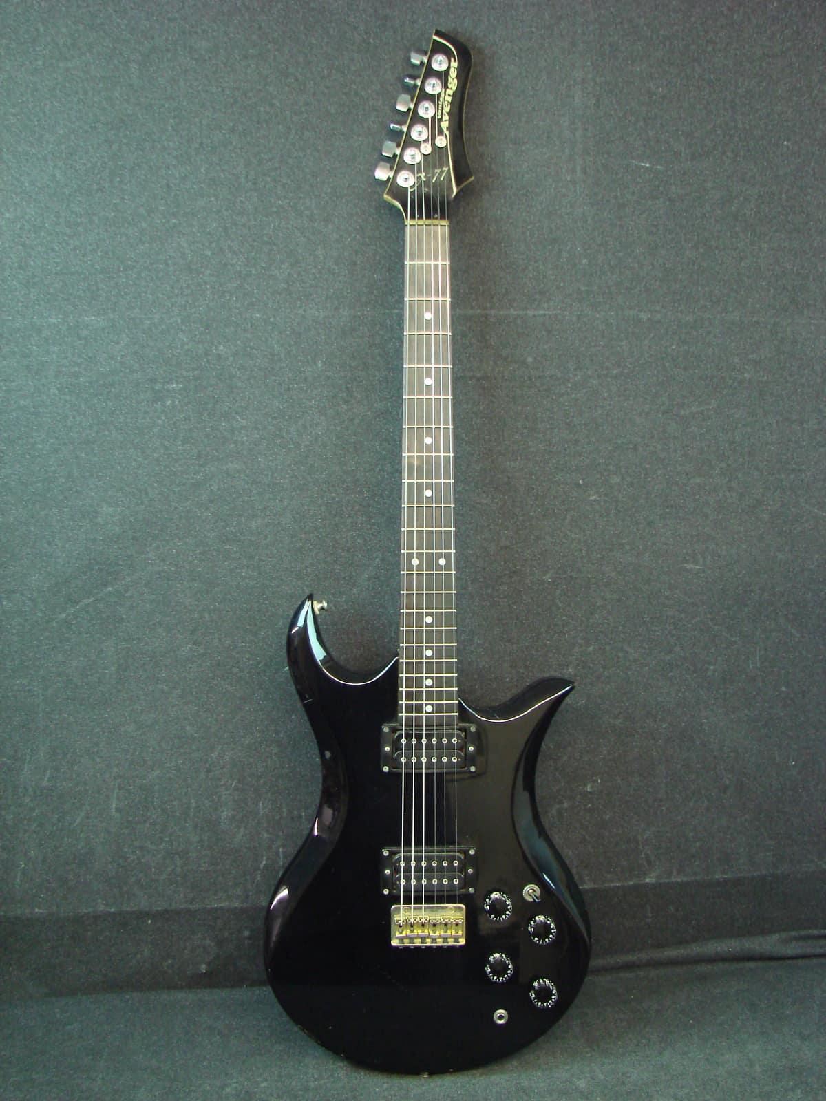 Vantage Avenger X 77 Black Electric Guitar Made In Japan X77 Reverb