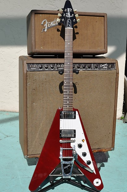 Auto Shops Near Me >> 1994 Gibson Lonnie Mack Signature Flying V with OHSC Near ...